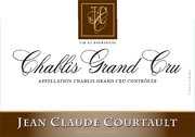 Domaine Jean-Claude Courtault  - Chablis Grand Cru Valmur - Label
