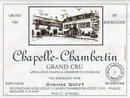 Domaine Gérard Quivy - Chapelle-Chambertin Grand Cru - Label